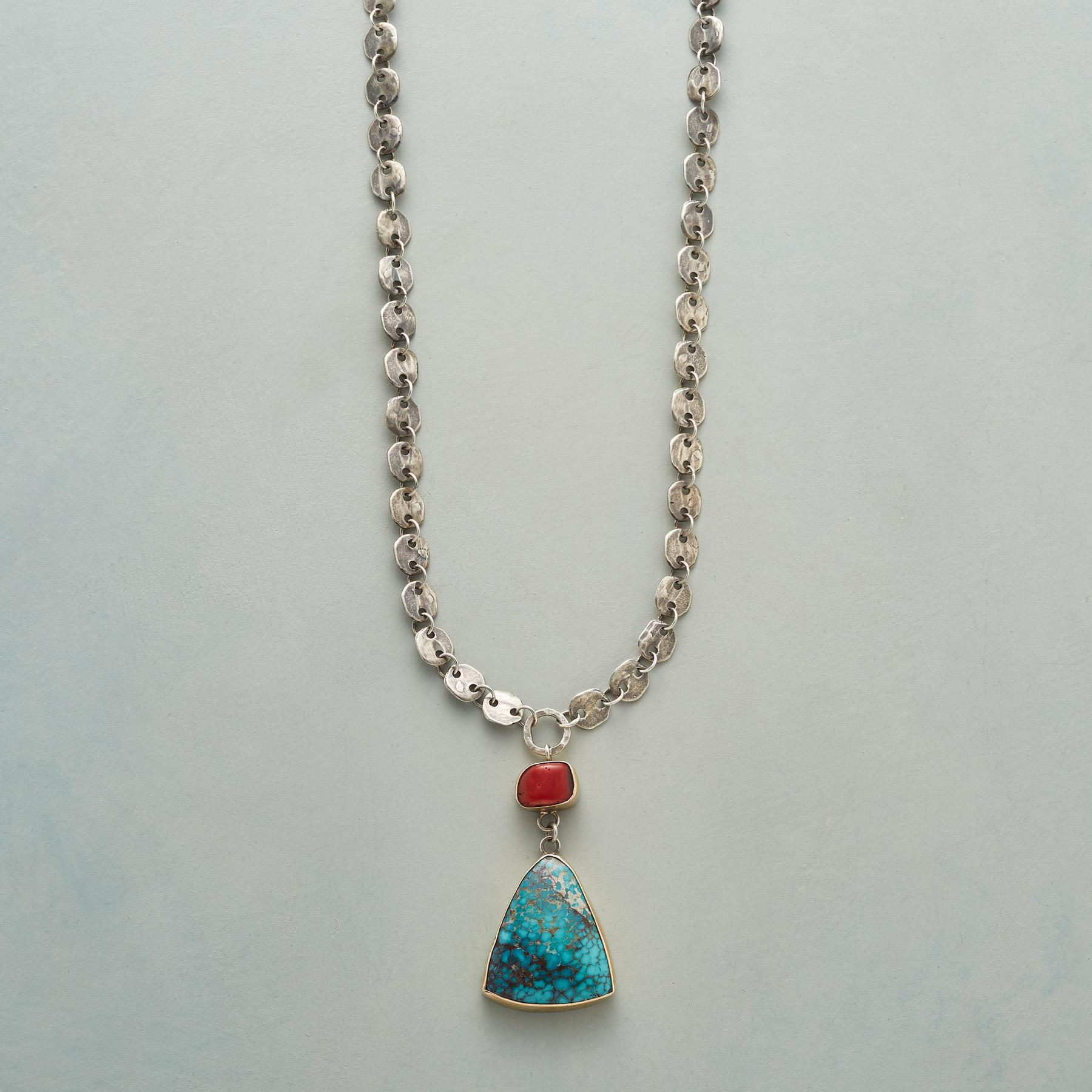 TURQUOISE AHEAD NECKLACE: View 1