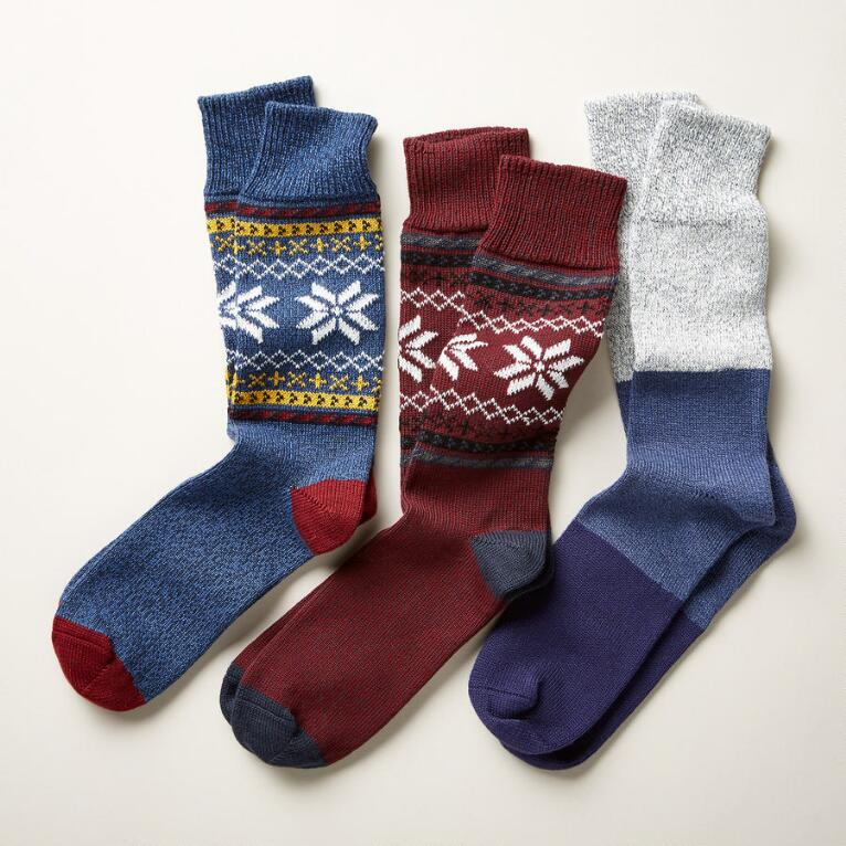 NORDIC JAUNT SOCKS, SET OF 3