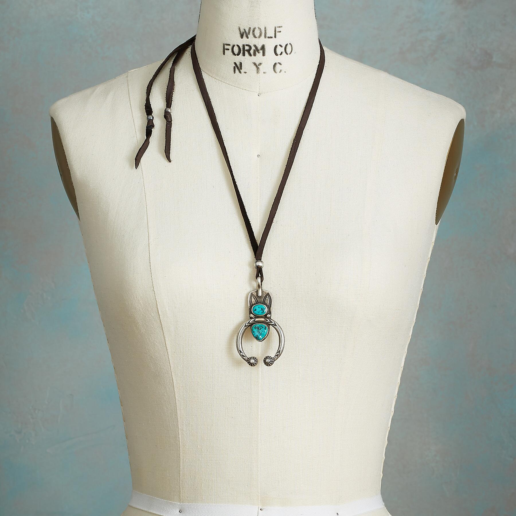 DOUBLE TURQUOISE NAJA NECKLACE: View 3