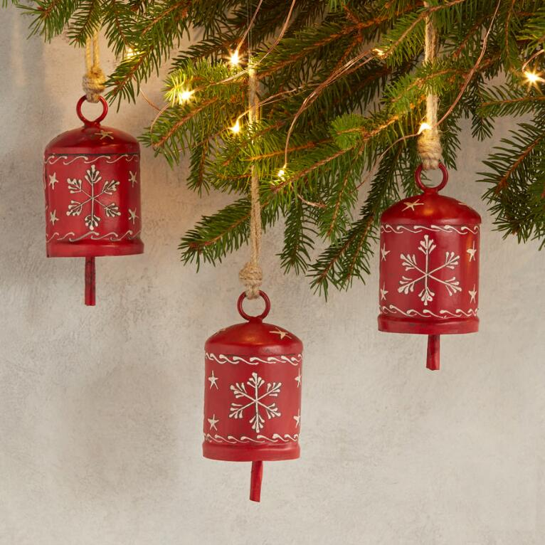 ALPENHAUS OBLONG BELL ORNAMENTS, SET OF 3