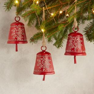 ALPENHAUS CONICAL BELL ORNAMENTS, SET OF 3