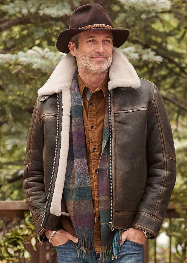 THE BRENT SHEARLING JACKET