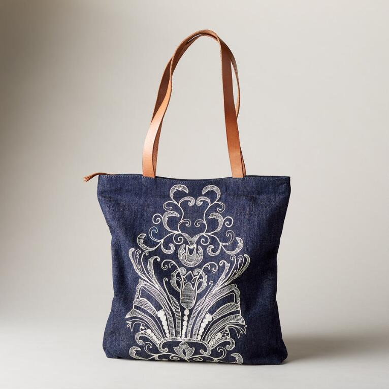 MOONLIGHT STITCHES TOTE