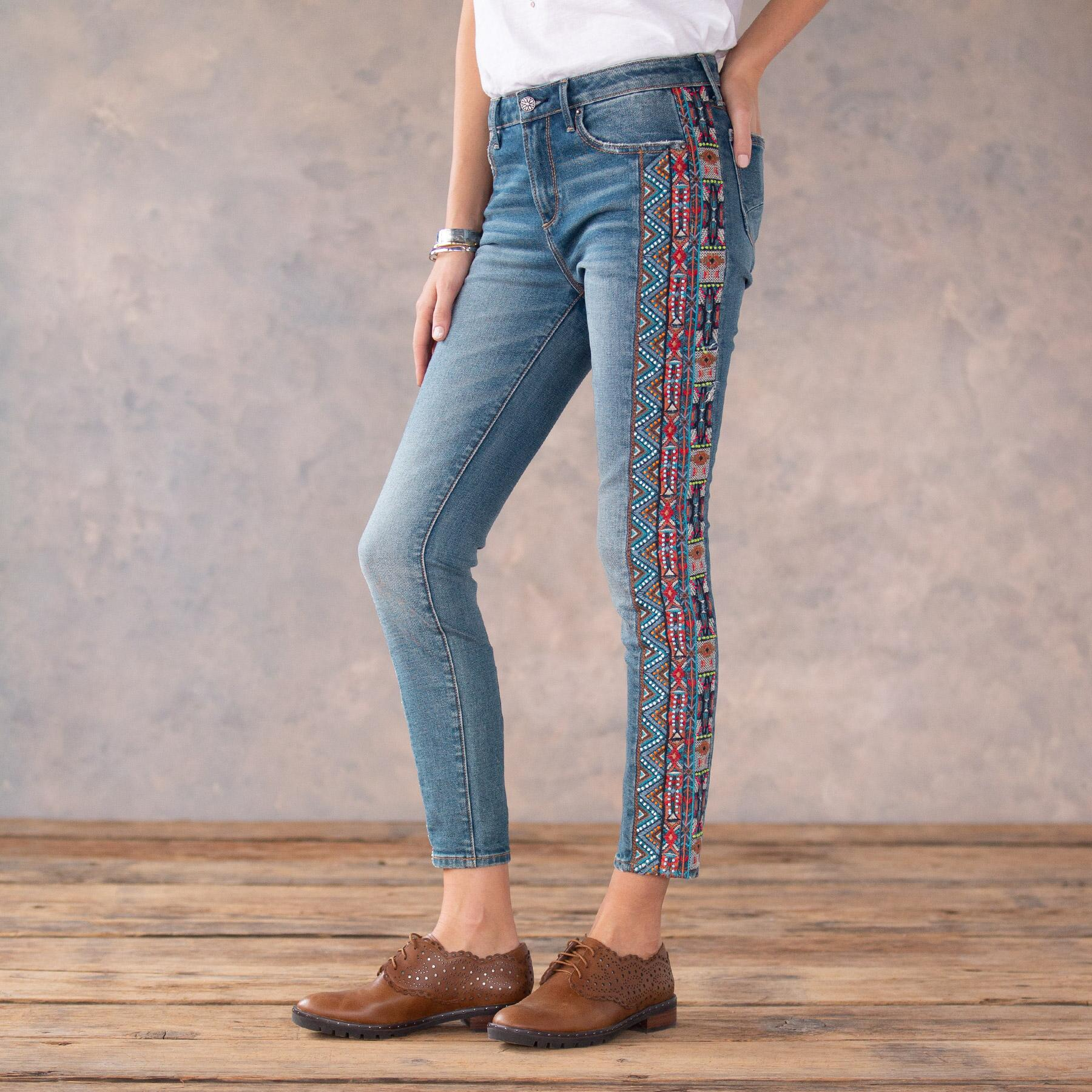 JACKIE BEADED JEANS: View 1