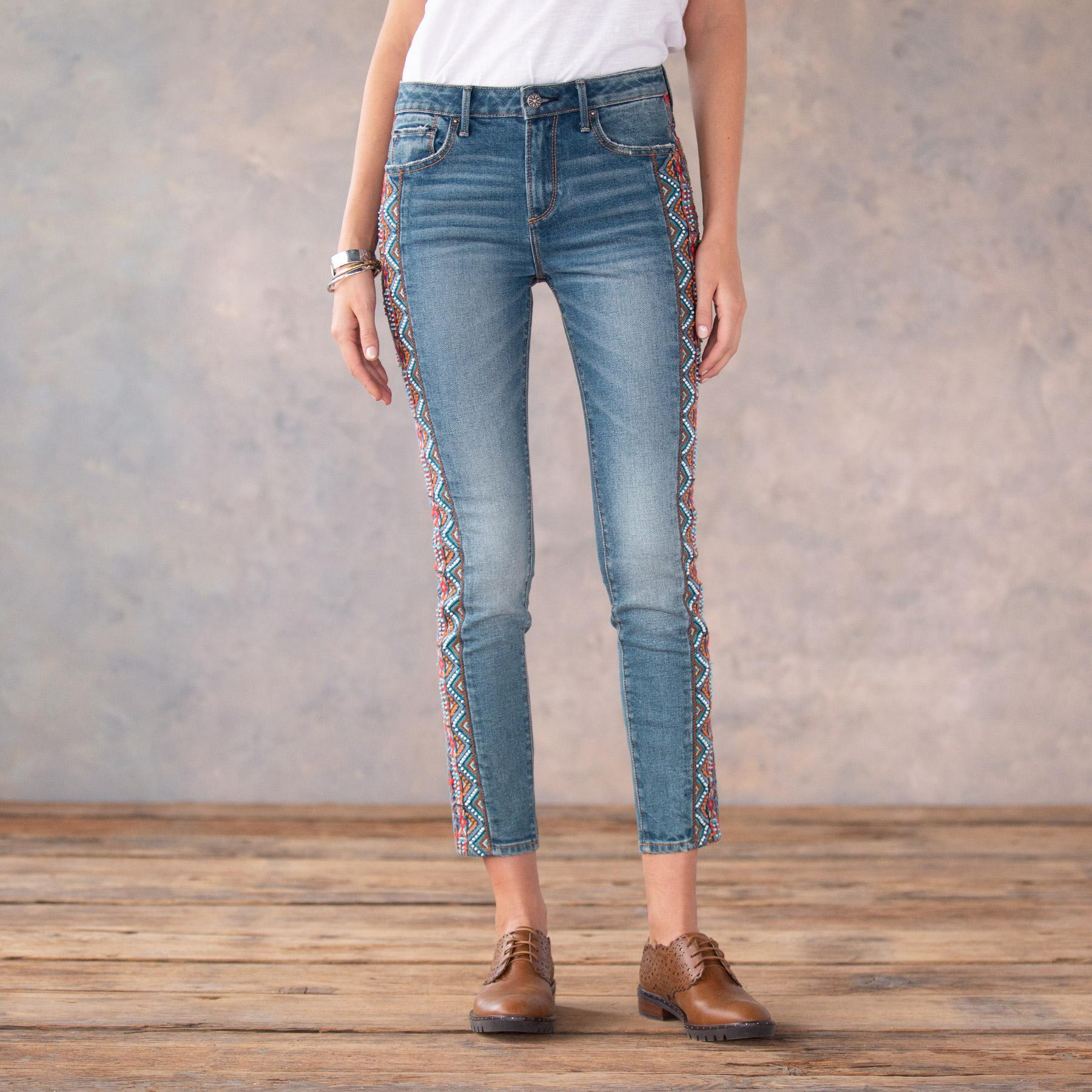 JACKIE BEADED JEANS: View 2