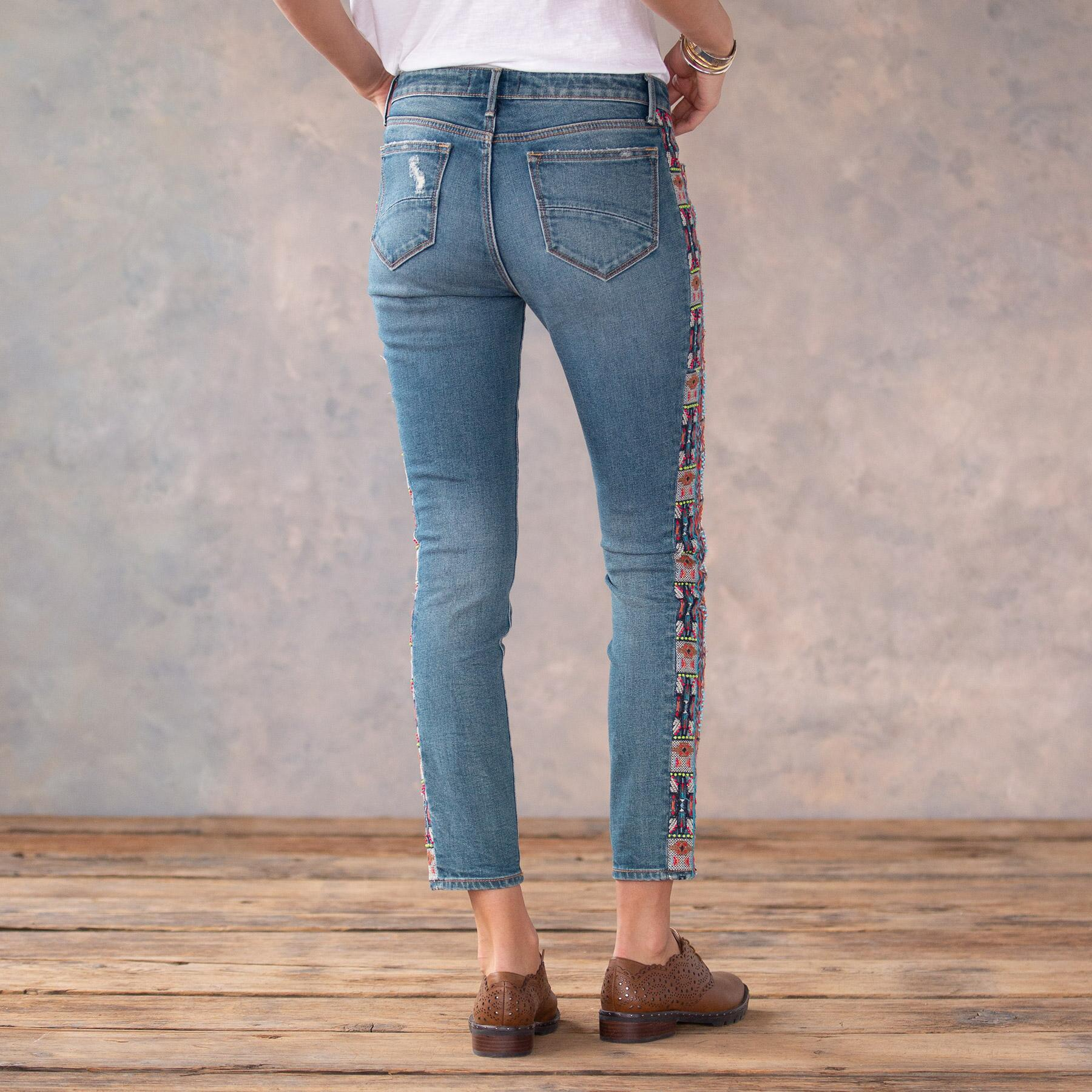 JACKIE BEADED JEANS: View 3