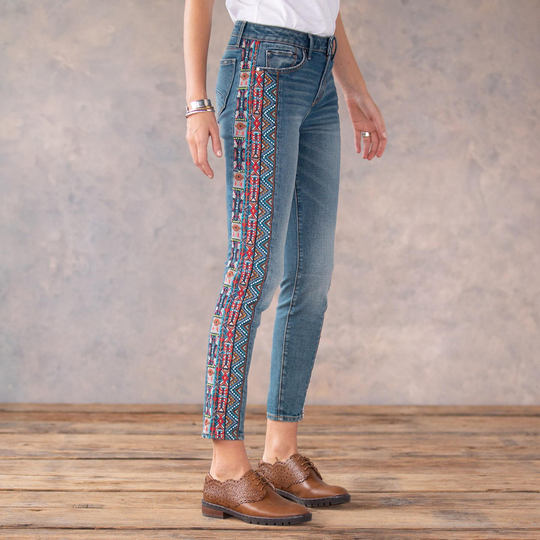 JACKIE BEADED JEANS: View 4