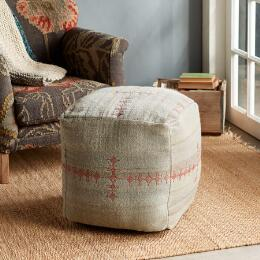 SUNSET RIDGE GRAY POUF