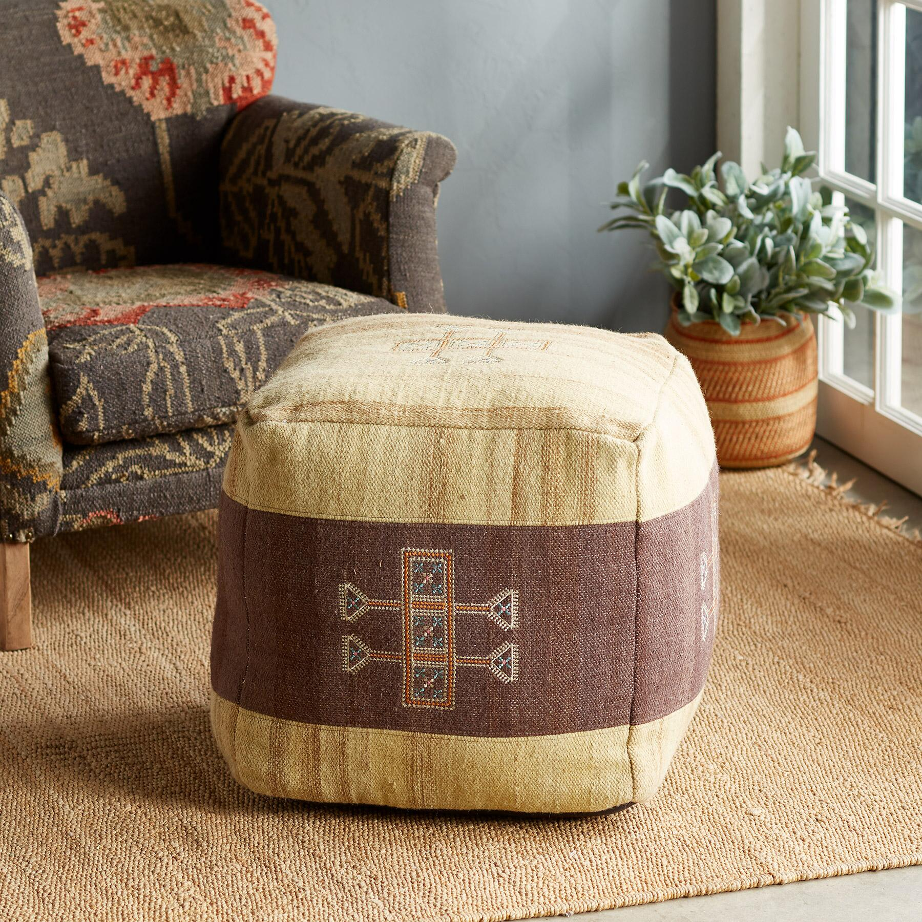 SUNSET RIDGE NATURAL POUF: View 1