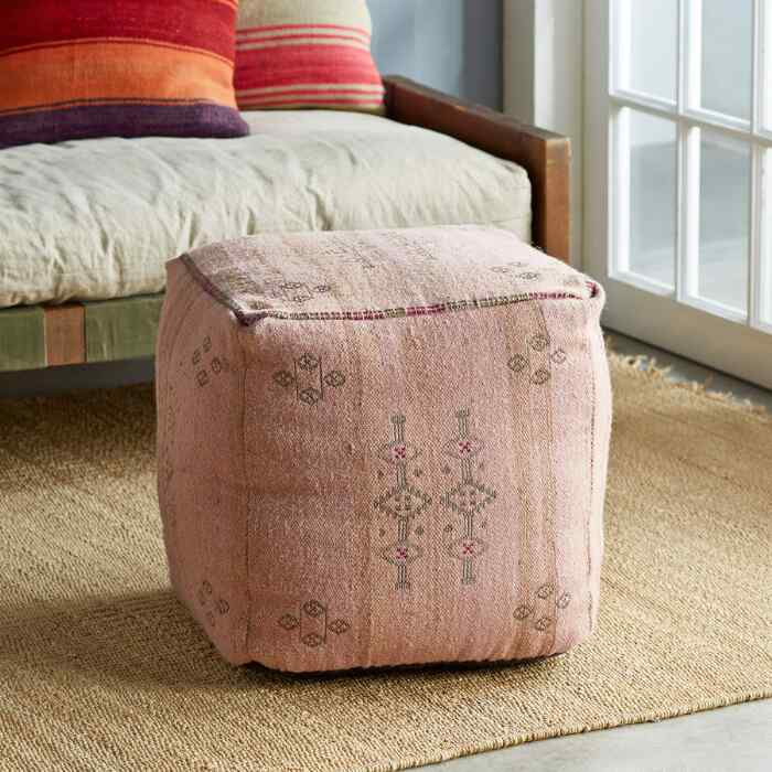 SUNSET RIDGE PINK POUF