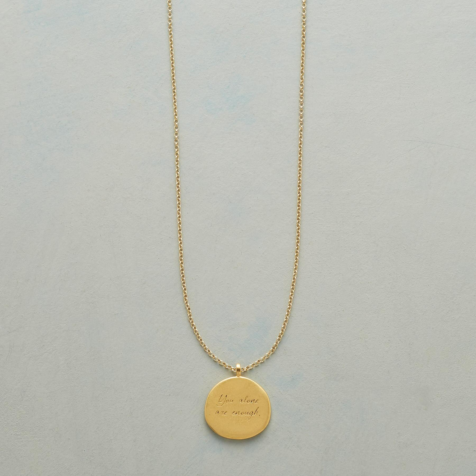 MAYA ANGELOU GOLD YOU ALONE NECKLACE: View 1