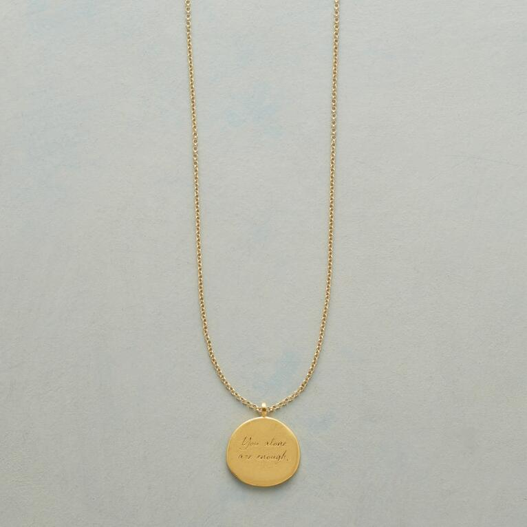 MAYA ANGELOU GOLD YOU ALONE NECKLACE