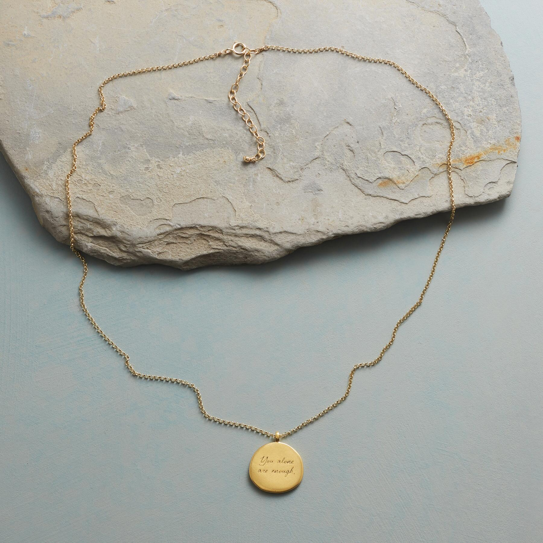 MAYA ANGELOU GOLD YOU ALONE NECKLACE: View 2