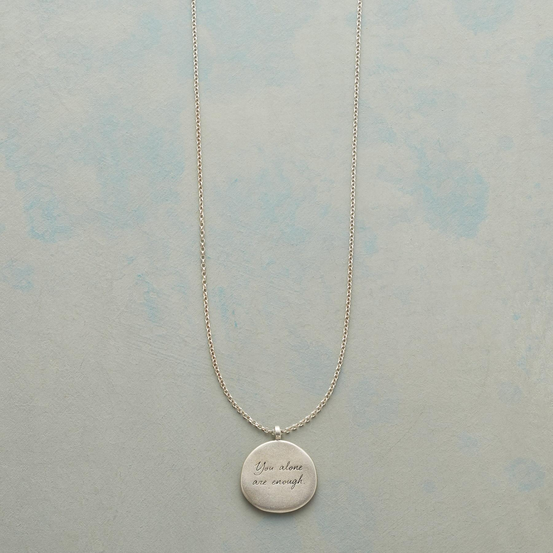 MAYA ANGELOU SILVER YOU ALONE NECKLACE: View 1