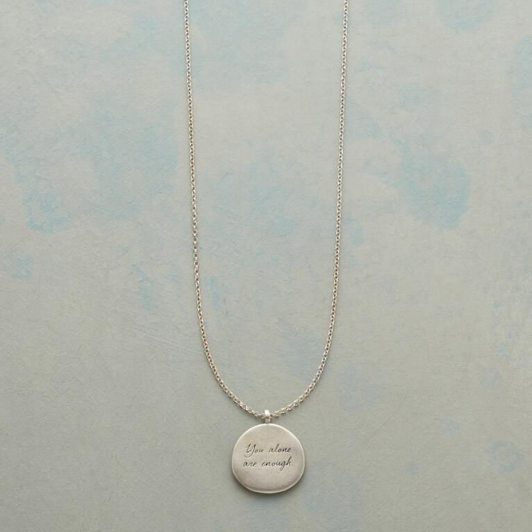 MAYA ANGELOU SILVER YOU ALONE NECKLACE