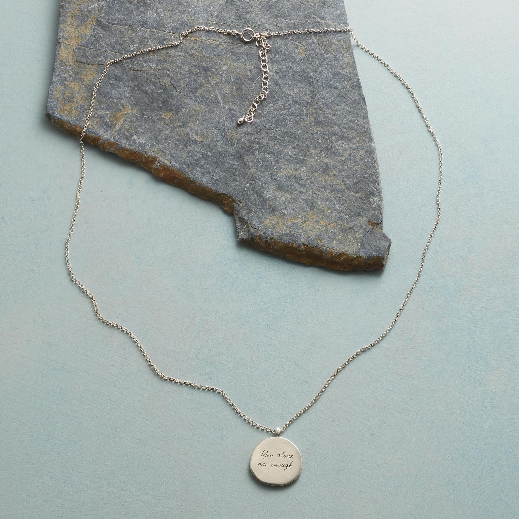 MAYA ANGELOU SILVER YOU ALONE NECKLACE: View 2