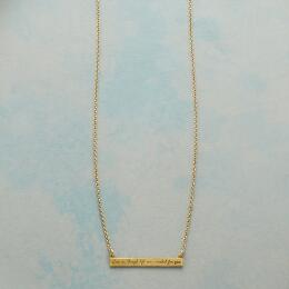 MAYA ANGELOU GOLD LIVE LIFE NECKLACE