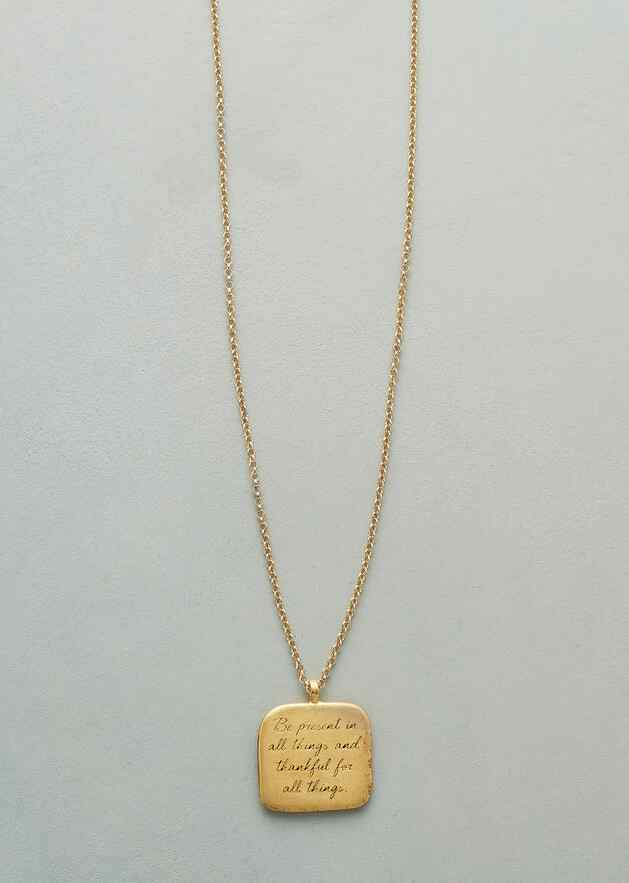 MAYA ANGELOU GOLD BE PRESENT NECKLACE