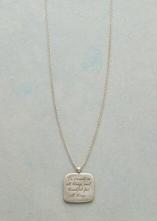 MAYA ANGELOU SILVER BE PRESENT NECKLACE