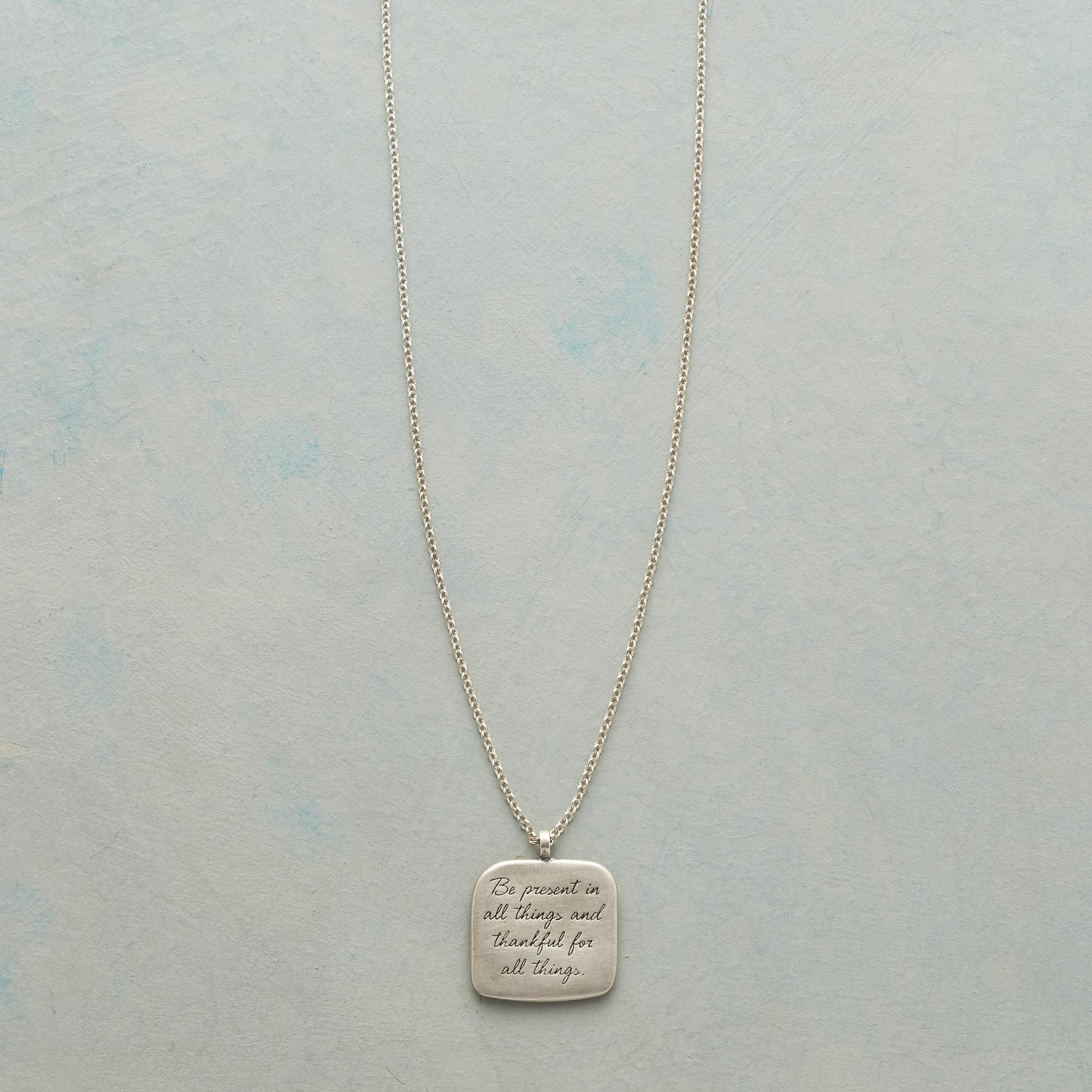 MAYA ANGELOU SILVER BE PRESENT NECKLACE: View 1
