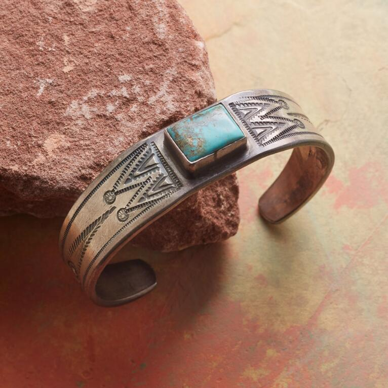 AL SOMERS CARICO LAKE TURQUOISE CUFF