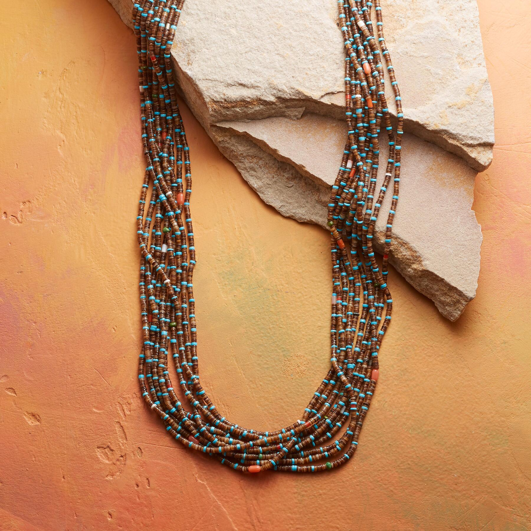 EARTH & SKY HEISHI BEAD NECKLACE: View 1