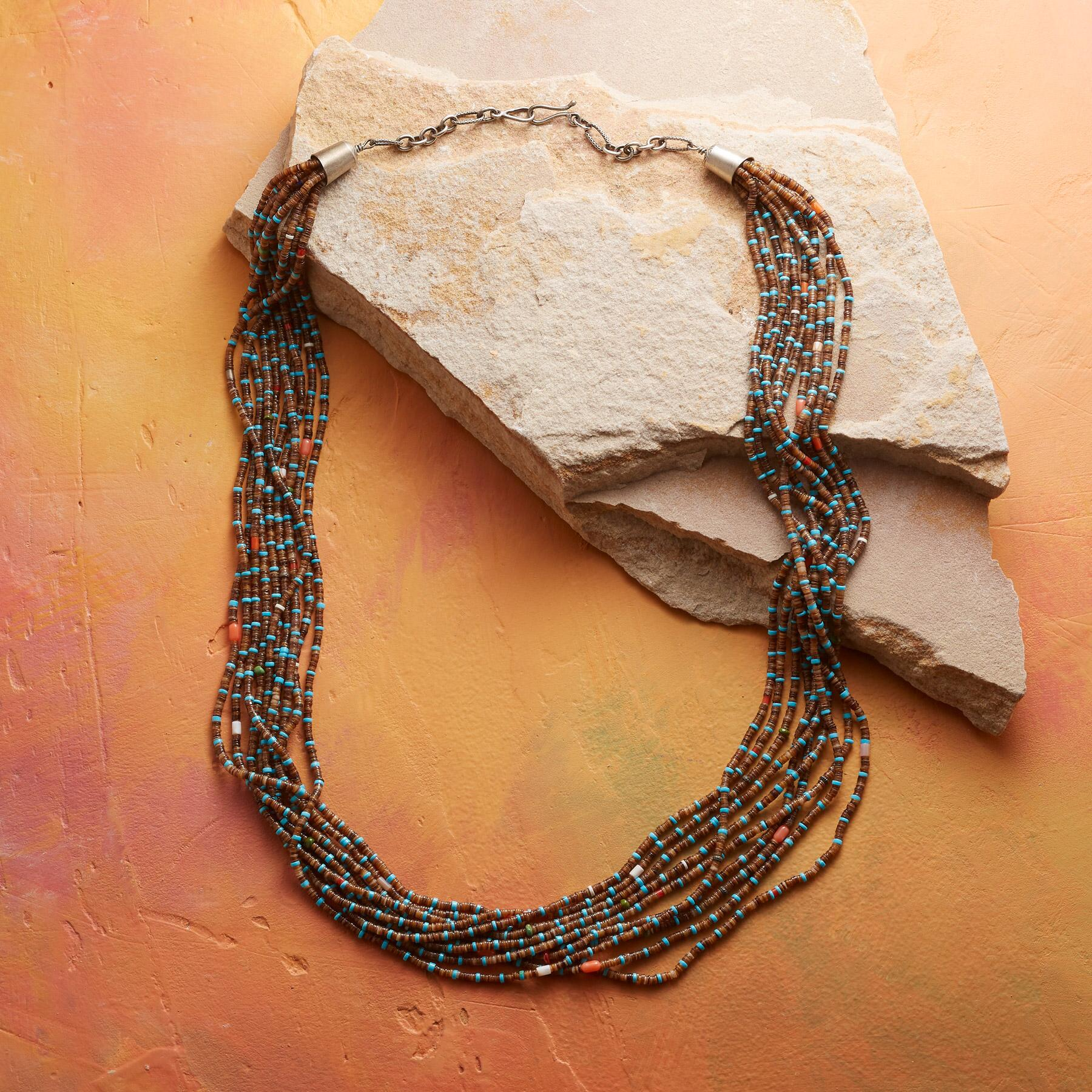 EARTH & SKY HEISHI BEAD NECKLACE: View 2