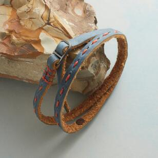 STITCHERY BUCKLED BRACELET