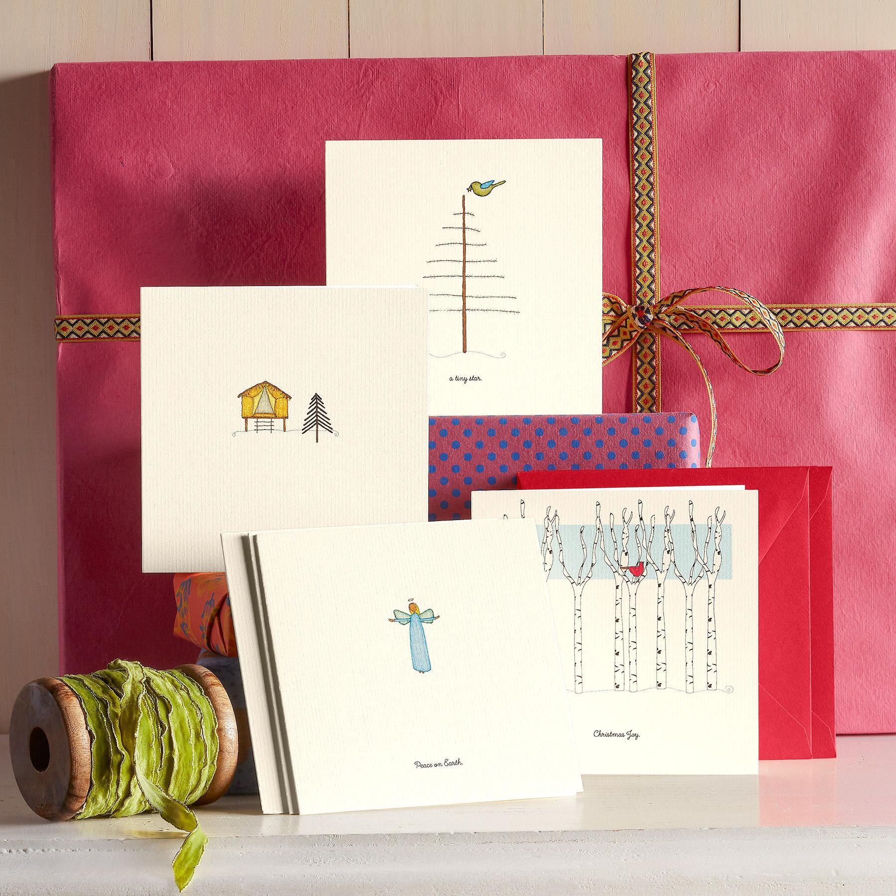 VIGNETTES CHRISTMAS JOY CARDS, SET OF 6: View 1