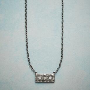 DIAMOND WINDOWPANE NECKLACE