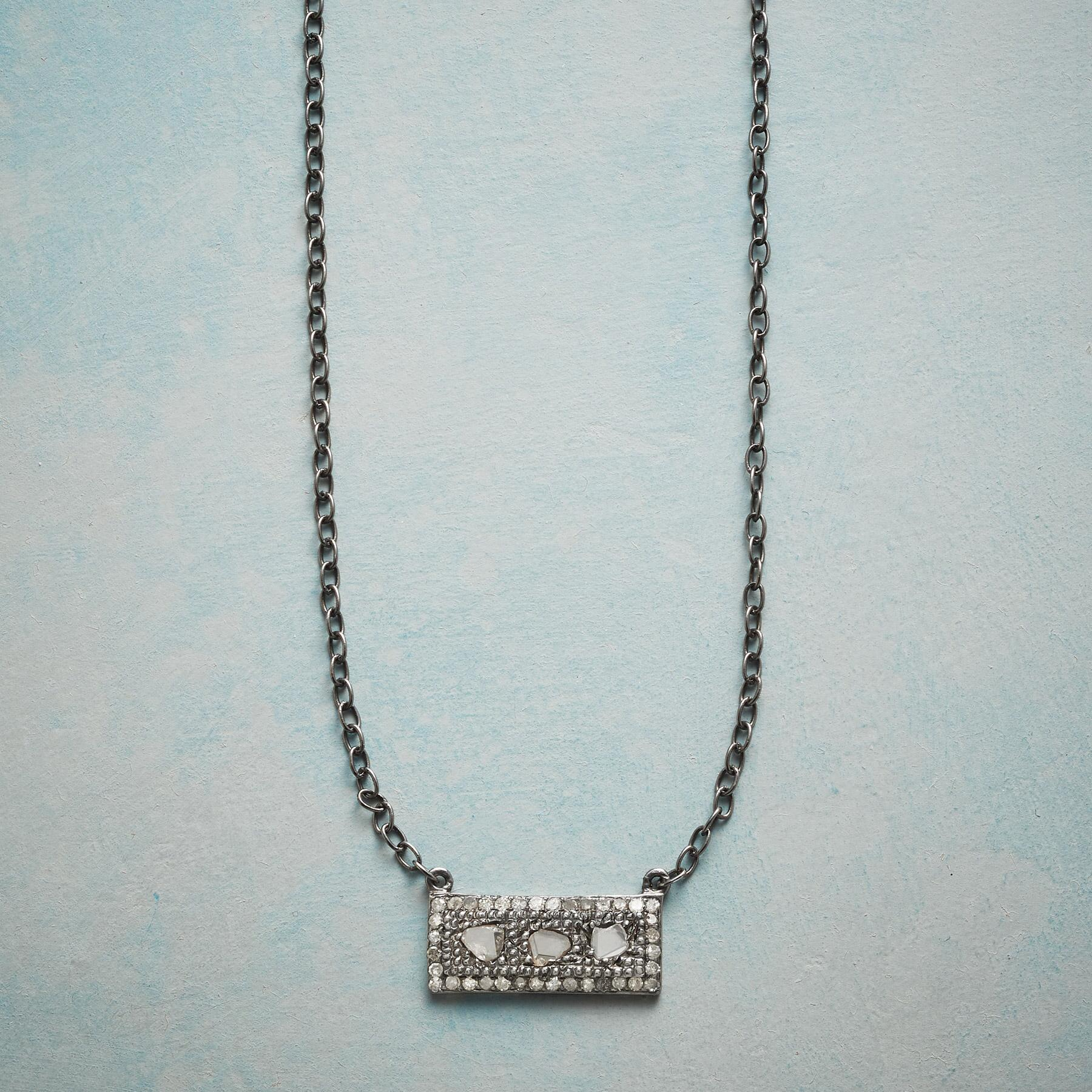 DIAMOND WINDOWPANE NECKLACE: View 1