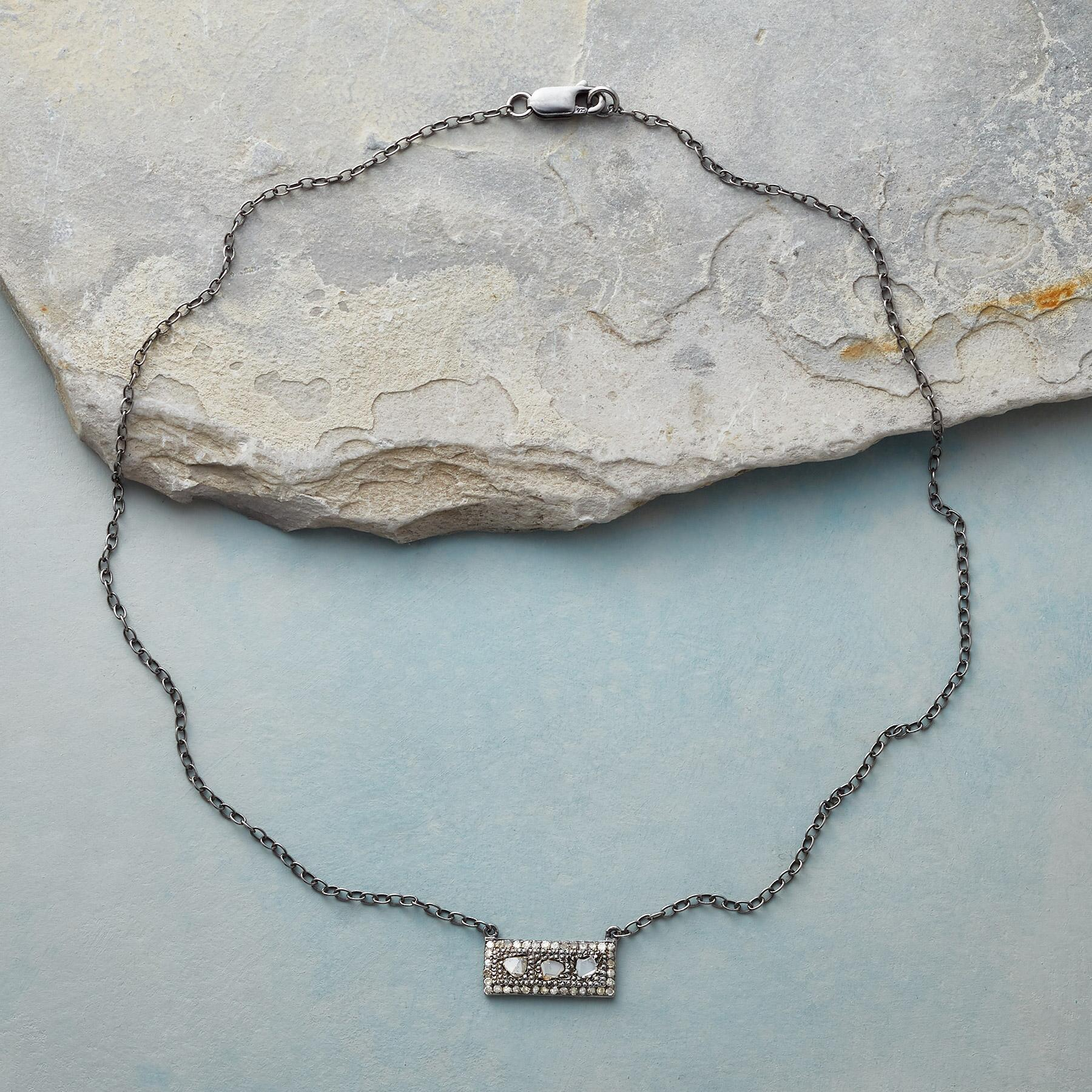 DIAMOND WINDOWPANE NECKLACE: View 2