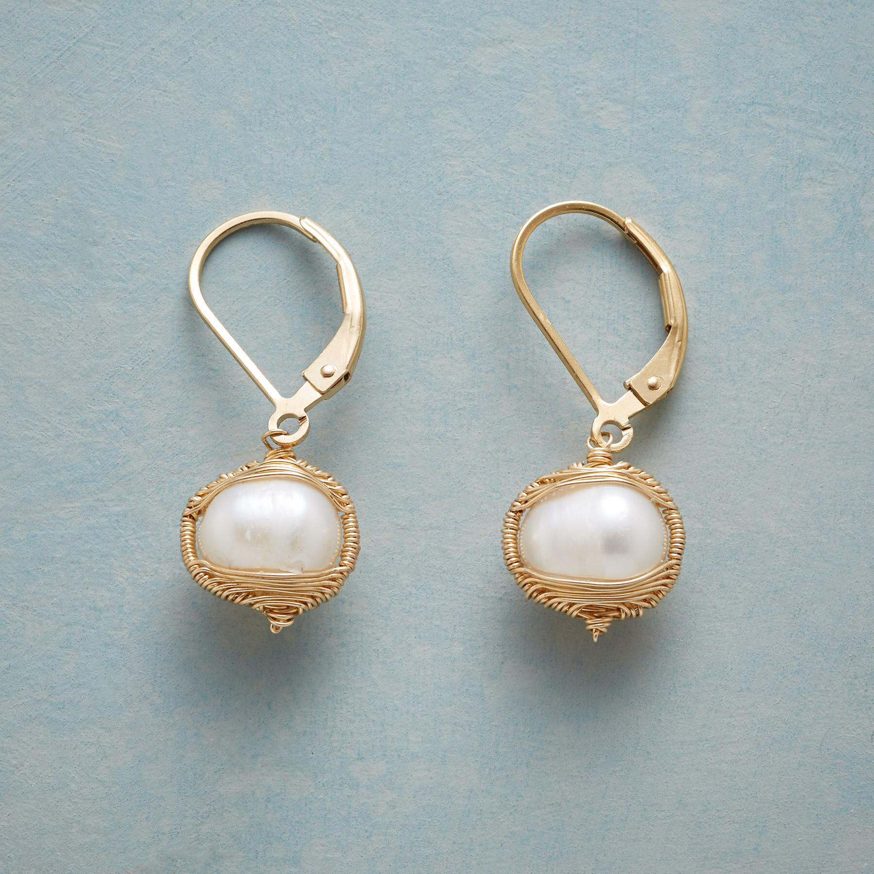 EMBRACEABLE PEARL EARRINGS: View 1