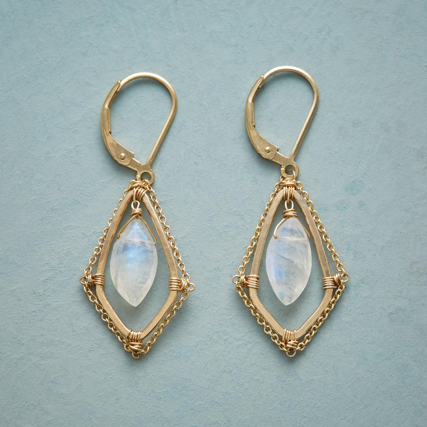 THROUGH THE MOONSTONE EARRINGS: View 1