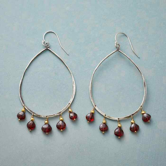 DANCING GARNETS EARRINGS