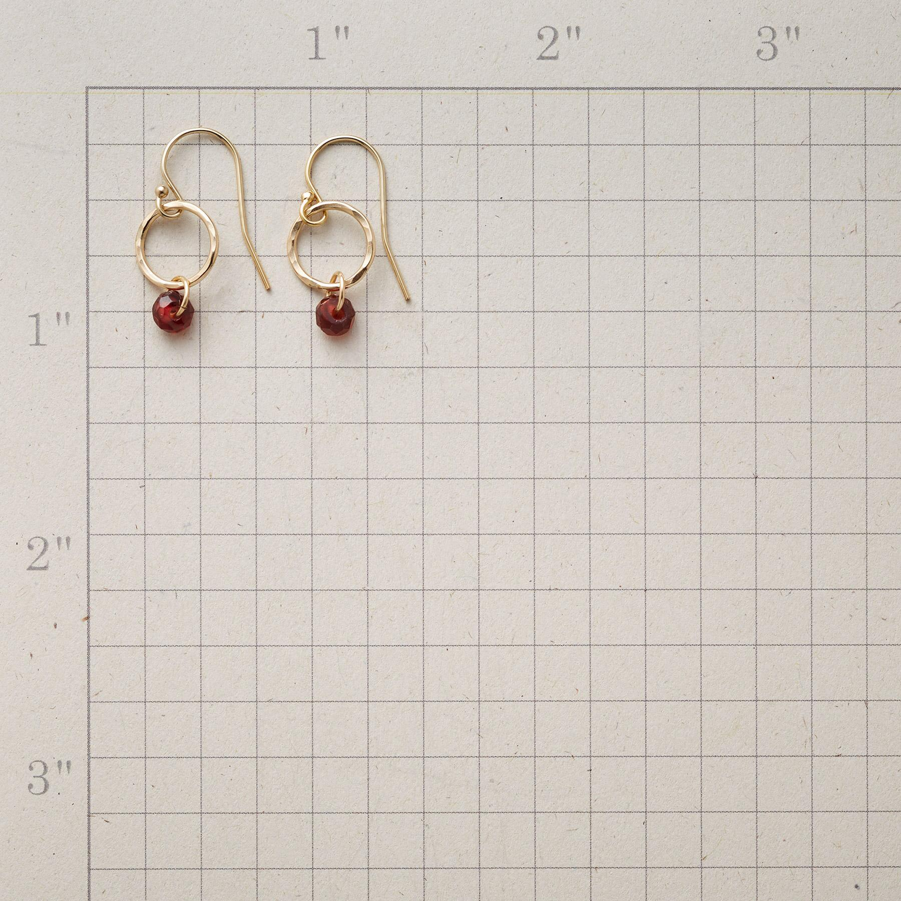 GARNET AURORA EARRINGS: View 2