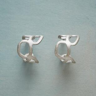 STERLING SILVER MEANDER EARRINGS