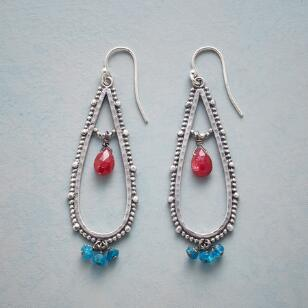 RUBY TEARS EARRINGS