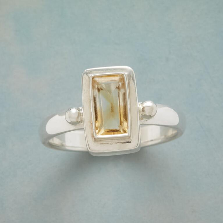 CITRINE STEP UP RING