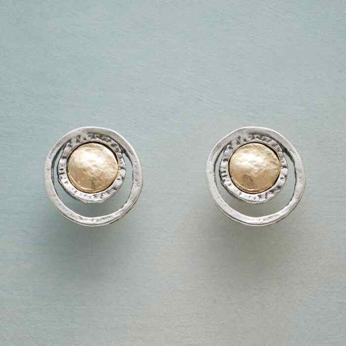 COIN AND CRESCENT EARRINGS