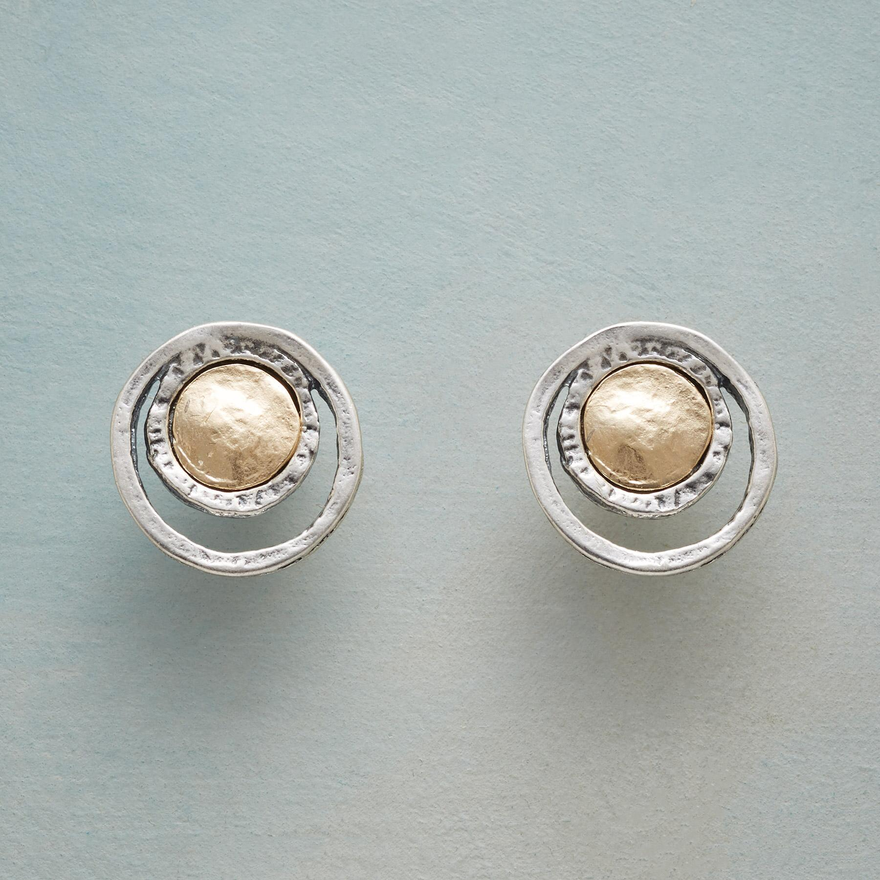 COIN AND CRESCENT EARRINGS: View 1