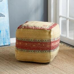 SUNSET RIDGE YELLOW POUF