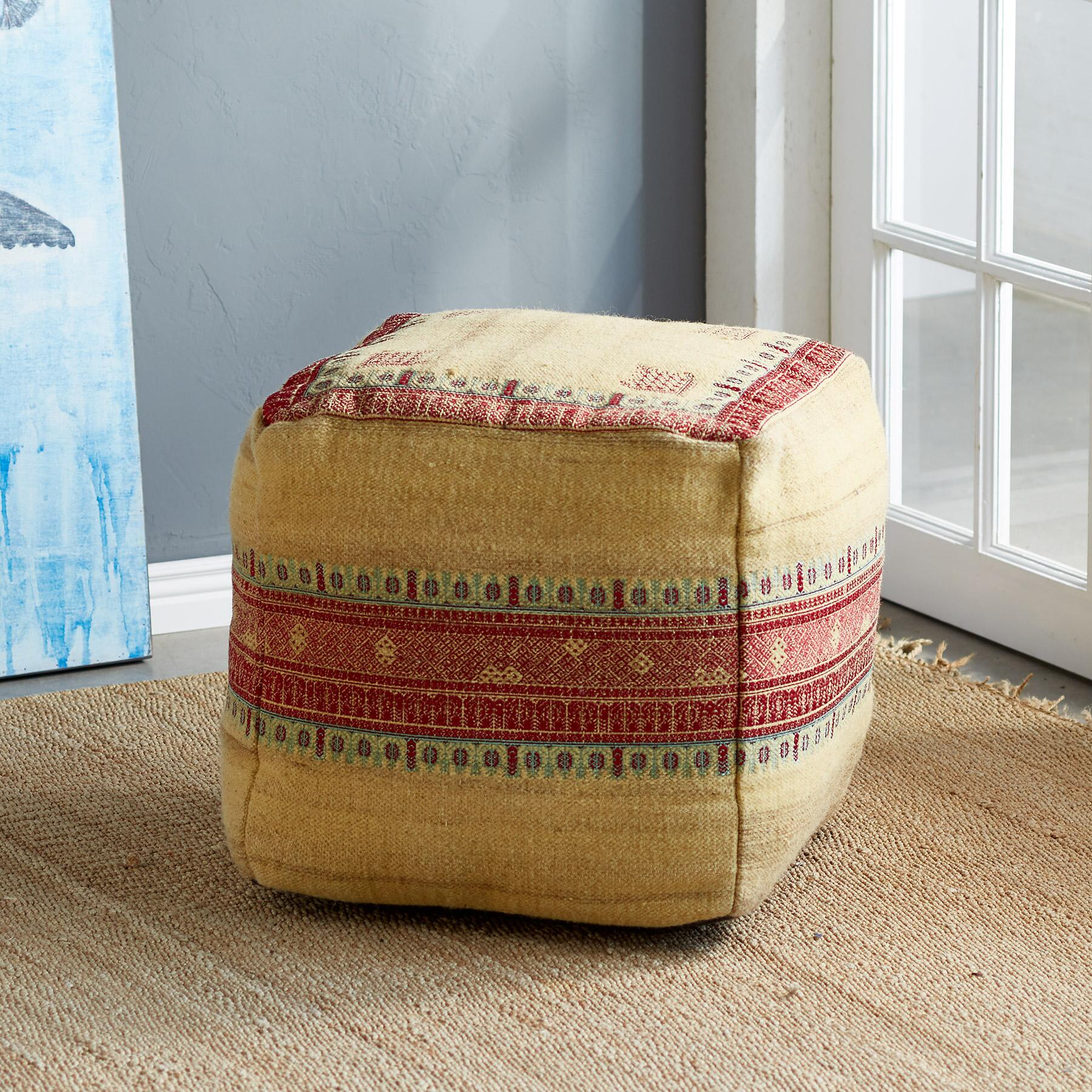 SUNSET RIDGE YELLOW POUF: View 1