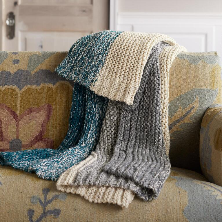 SNOW CANYON TEAL THROW
