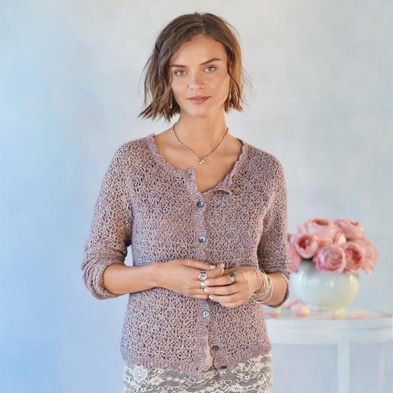 LAVENDER FIELDS CARDIGAN