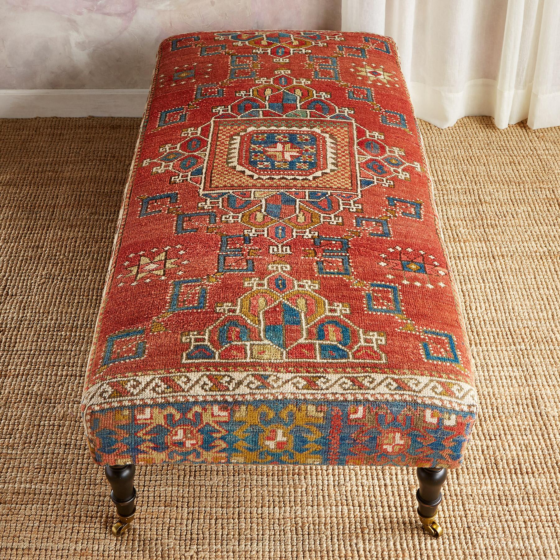 BOZBURUN TURKISH CARPET BENCH: View 2