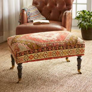 KALKAN TURKISH CARPET OTTOMAN