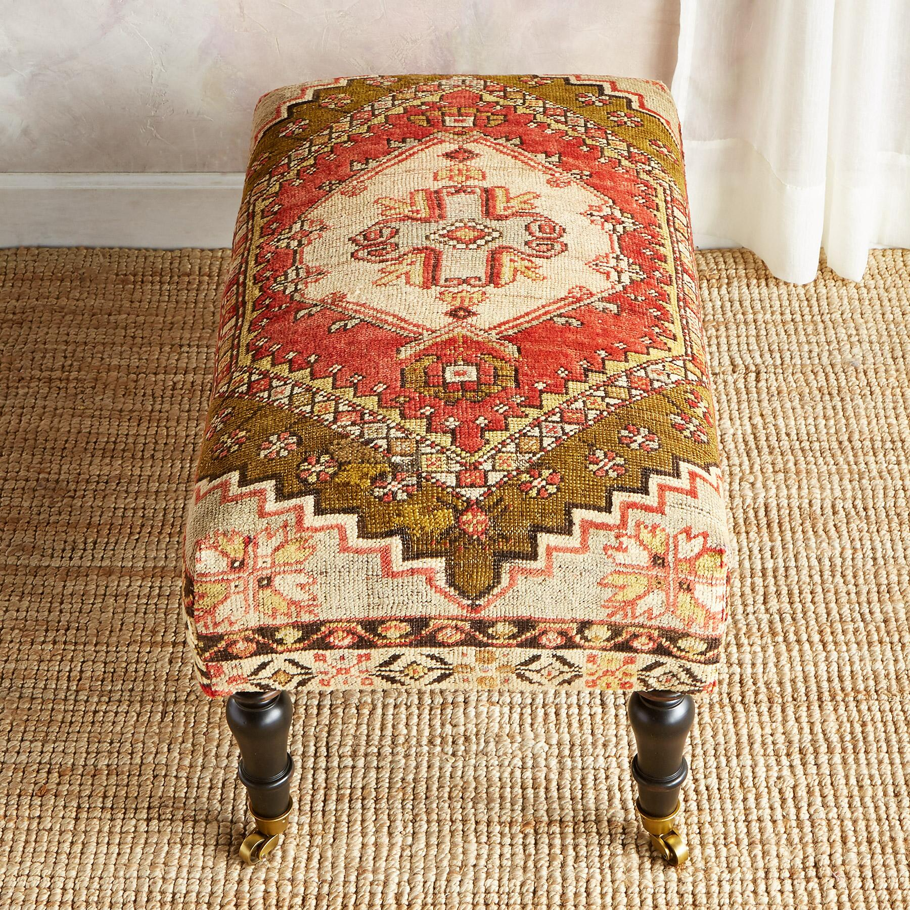 KALKAN TURKISH CARPET OTTOMAN: View 2