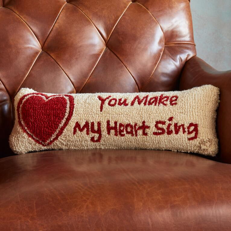 YOU MAKE MY HEART SING BOLSTER PILLOW