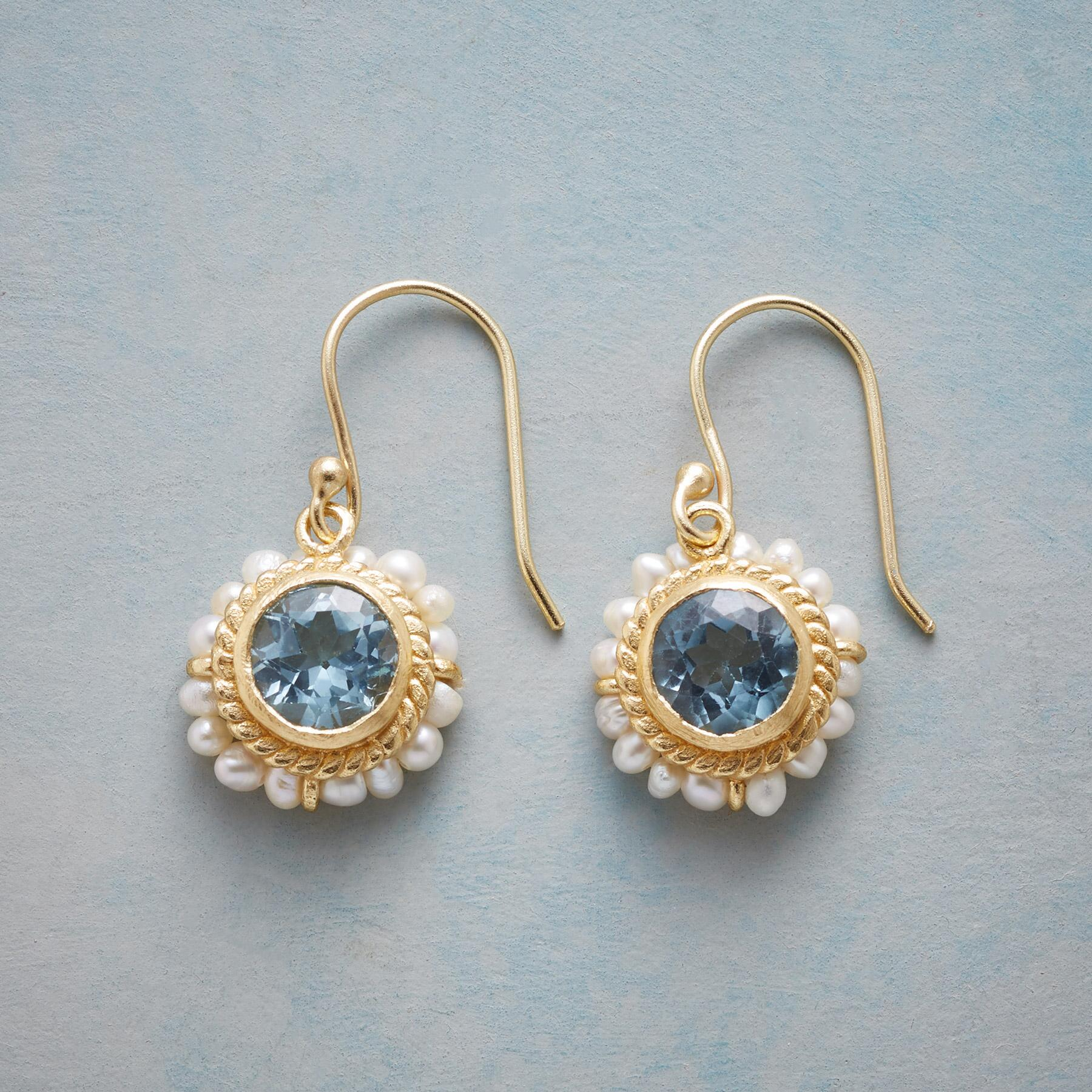 LUMINOUS BLUE TOPAZ EARRINGS: View 1